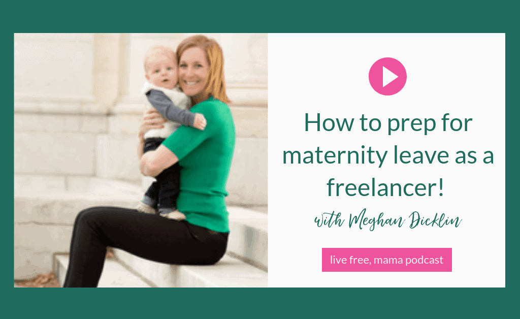 How to prep for maternity leave for freelancers