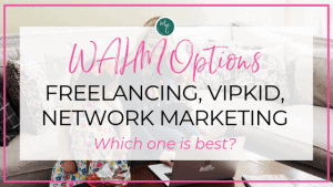 WAHM options mom with baby and toddler and laptop at home