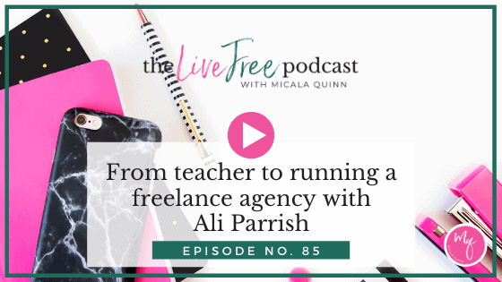 85: From teacher to running a freelance agency with Ali Parrish