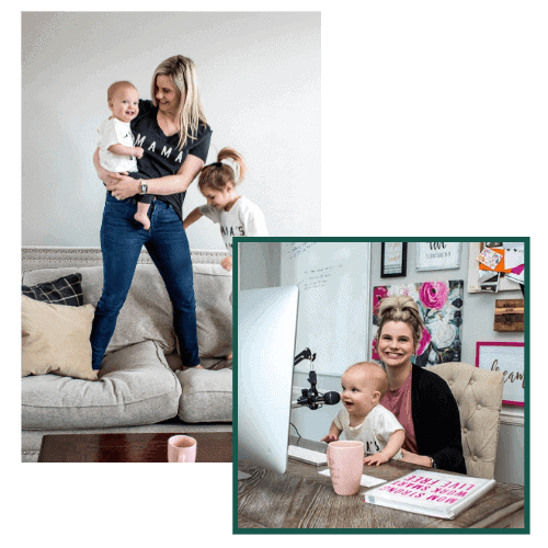 Micala Quinn and her kids