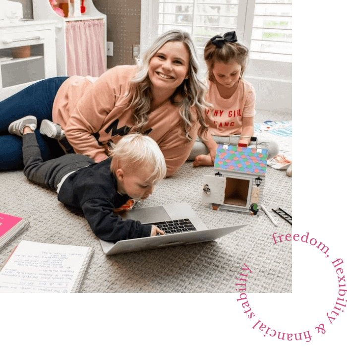 Micala quinn and her kids playing